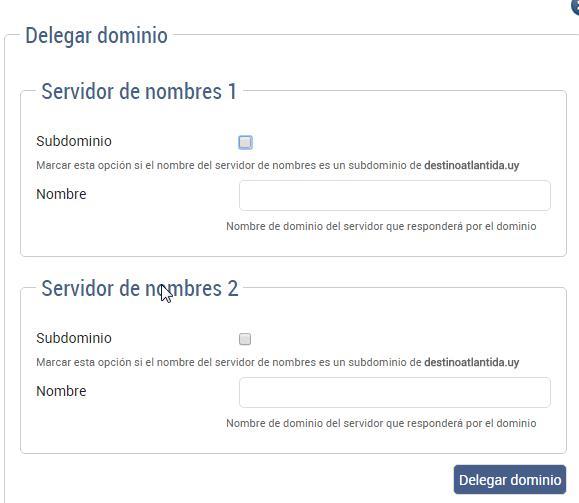 delegar dominios uy