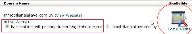 edit sitebuilder